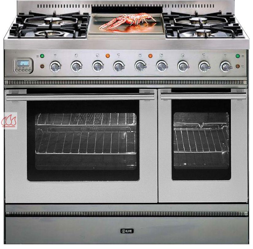 Piano de cuisson inox 90cm avec 2 fours table de cuisson personnalisable il - Piano de cuisson 2 fours ...