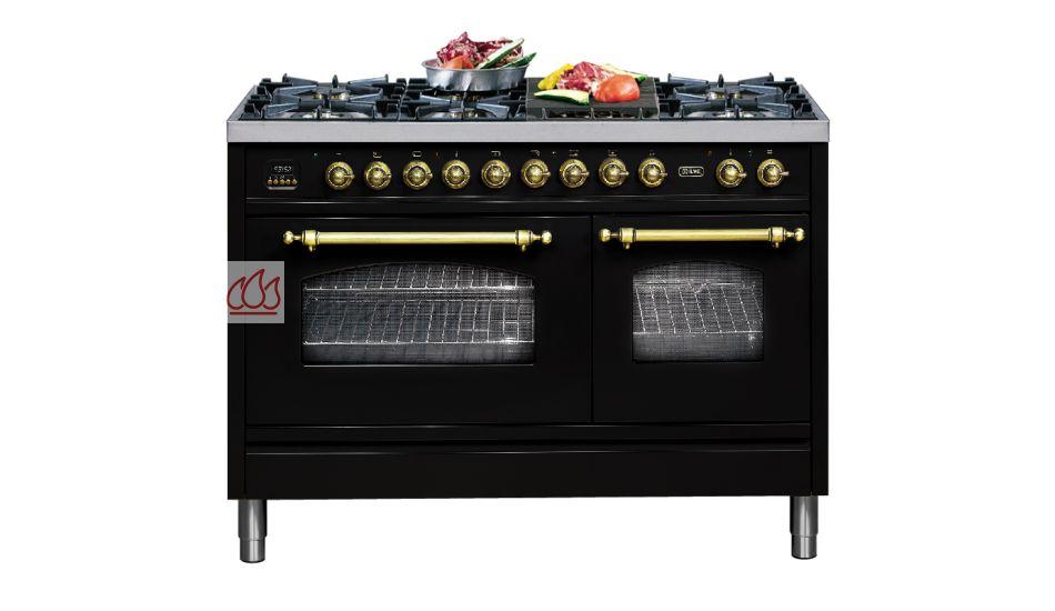 piano de cuisson 120cm avec 2 fours table de cuisson personnalisable avec tiroir ilve ec. Black Bedroom Furniture Sets. Home Design Ideas