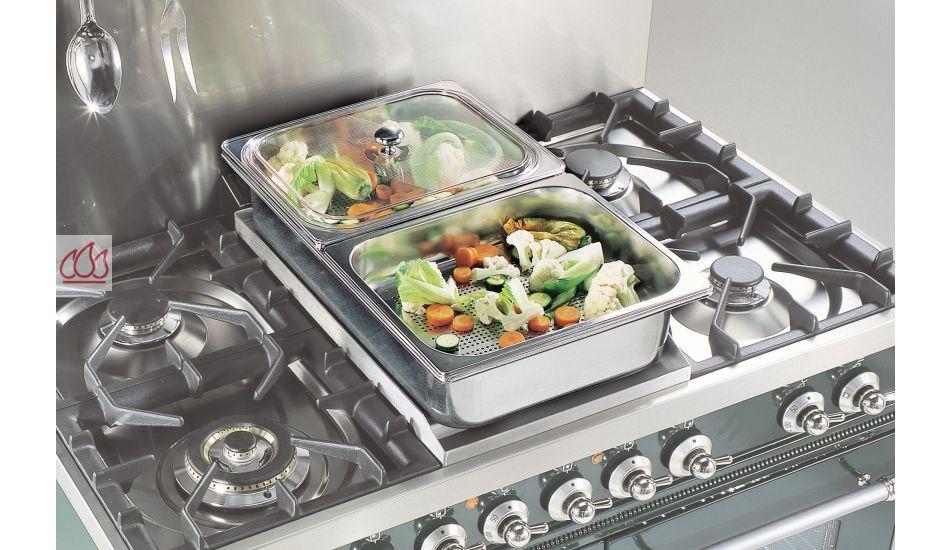 Kit de bassines inox pour cuit vapeur ilve ec ilv1521 - Cuit vapeur inox pour gaz ...