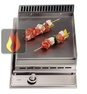 Domino fry top gaz 30 cm encastrable inox ILVE