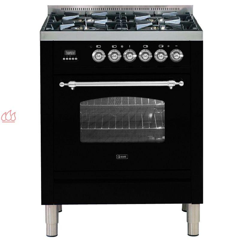 cuisini re de 70cm avec 1 four table de cuisson 4 foyers. Black Bedroom Furniture Sets. Home Design Ideas
