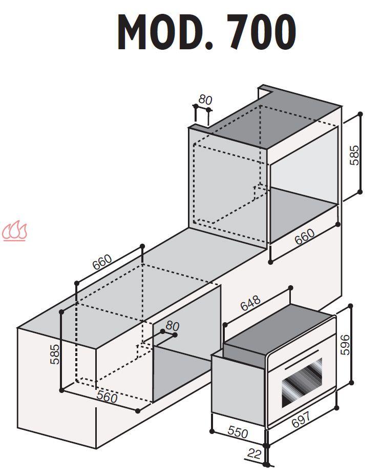 four multifonctions grande capacit encastrable inox ilve ec ilv562 mon espace cuisson. Black Bedroom Furniture Sets. Home Design Ideas