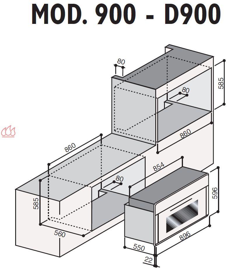four gaz grande capacit encastrable ilve ec ilv570. Black Bedroom Furniture Sets. Home Design Ideas