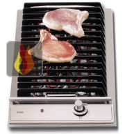 Domino barbecue 30 cm encastrable inox ILVE