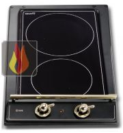 Domino induction 30 cm encastrable noir 2 foyers ILVE