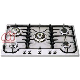 Plaque de cuisson gaz 90 cm encastrable en inox 5 foyers for Plaque de cuisson 90 cm gaz