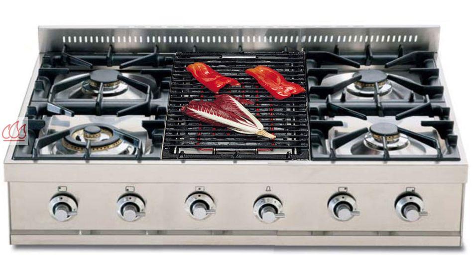 plaque de cuisson gaz 90 cm inox poser 5 foyers dont 1 wok dual 5 kw et 1 barbecue ilve ec. Black Bedroom Furniture Sets. Home Design Ideas