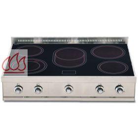 plaque de cuisson vitroc ramique 90 cm inox poser 5 foyers ilve ec ilv397 mon espace cuisson. Black Bedroom Furniture Sets. Home Design Ideas