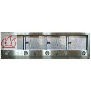 Hotte encastrable d 39 extraction 150cm avec clairage for Hotte extraction exterieure