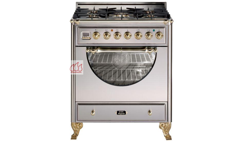cuisini re 76cm avec 1 four table de cuisson 5 foyers gaz dont 1 foyer wok ilve ec ilv114. Black Bedroom Furniture Sets. Home Design Ideas
