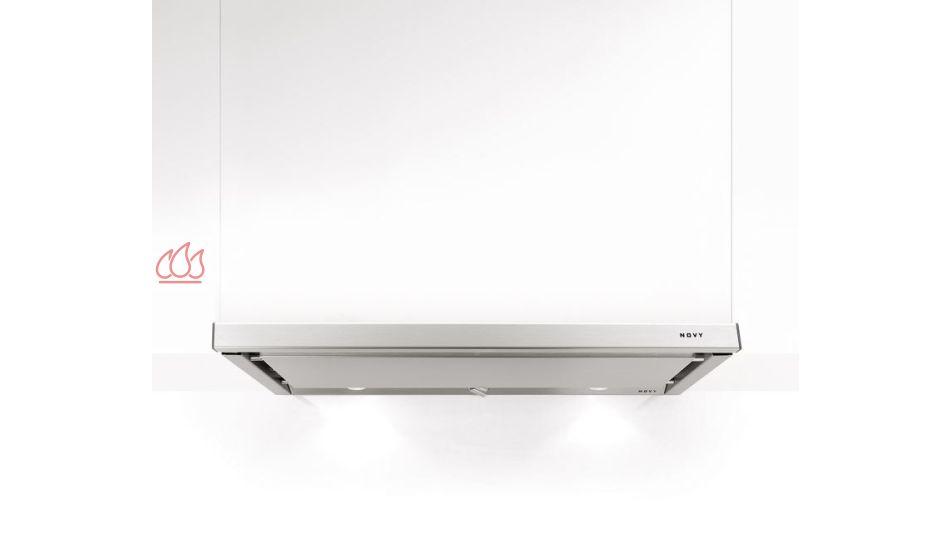 hotte tiroir inox 2 moteurs encastrable dans un meuble haut avec clairage led novy ec nov457. Black Bedroom Furniture Sets. Home Design Ideas