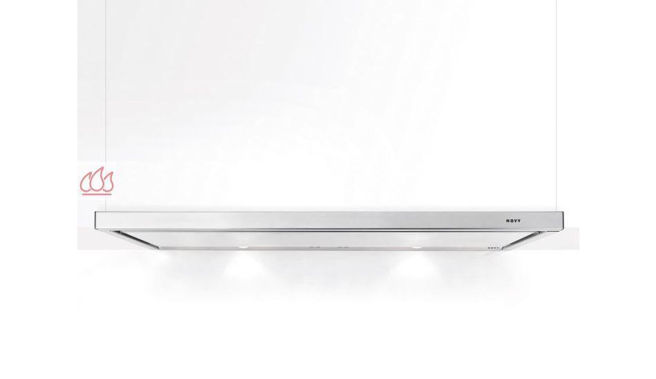 hotte tiroir inox 2 moteurs encastrable dans un meuble haut avec clairage led novy ec nov461. Black Bedroom Furniture Sets. Home Design Ideas