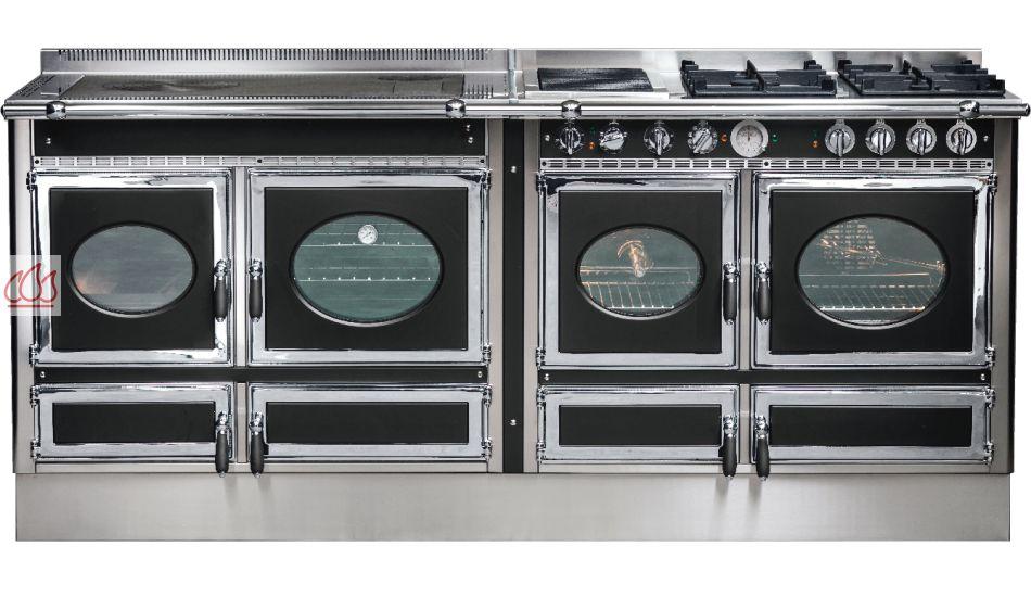 piano de cuisson bois gaz et lectrique 200cm avec 3 fours et plaque de cuisson. Black Bedroom Furniture Sets. Home Design Ideas