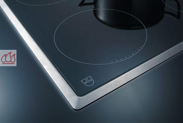 Table de cuisson induction 77cm encastrable noire 3 foyers for Plaque induction avec cadre inox
