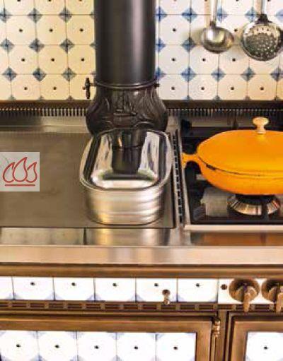 Piano de cuisson bois gaz et lectrique 160cm avec 2 fours et plaque de cuisson - Plaque de cuisson gaz et electrique ...