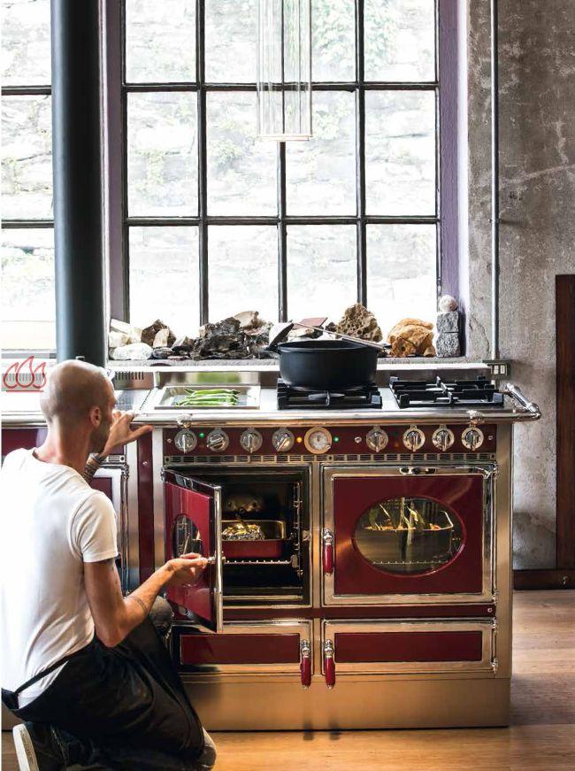 piano de cuisson bois gaz et lectrique 160cm avec 2. Black Bedroom Furniture Sets. Home Design Ideas