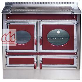 piano de cuisson 100cm avec 1 four 224 bois