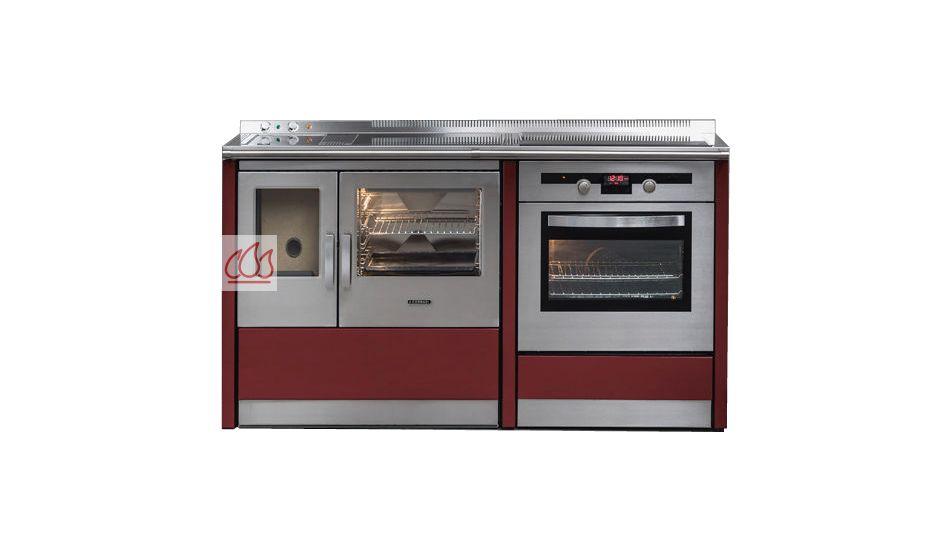 piano de cuisson 155cm avec foyer 224 granul 233 s de bois 2 fours 233 lectriques table de cuisson