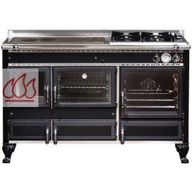 piano de cuisson bois gaz et lectrique 140cm avec 2 fours et plaque de cuisson. Black Bedroom Furniture Sets. Home Design Ideas