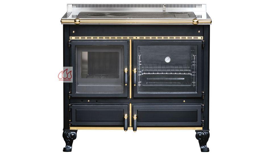 Piano de cuisson 100cm avec four bois 58l j corradi ec jci112 mon espac - Piano de cuisson bois ...