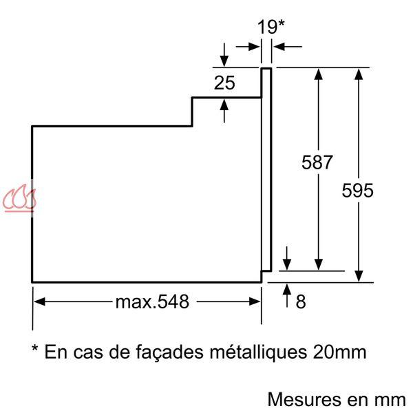 four multifonction pyrolyse porte lat rale charni re gauche d 39 une capacit de 63l. Black Bedroom Furniture Sets. Home Design Ideas