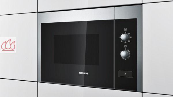 micro ondes et gril noir inox de 25l encastrable de niche siemens ec sie616 mon espace cuisson. Black Bedroom Furniture Sets. Home Design Ideas