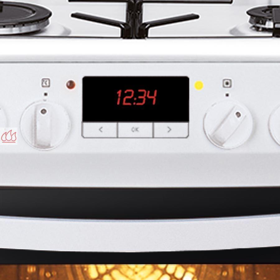 Cuisini re blanche de 60cm 4 foyers gaz et 1 four - Difference four catalyse et pyrolyse ...