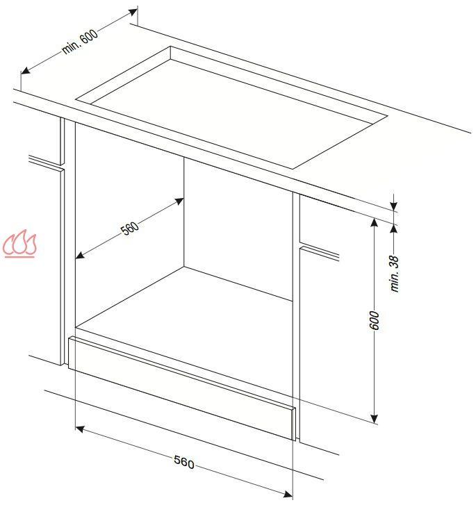 four inox multifonction grande capacit 66l simple cavit. Black Bedroom Furniture Sets. Home Design Ideas