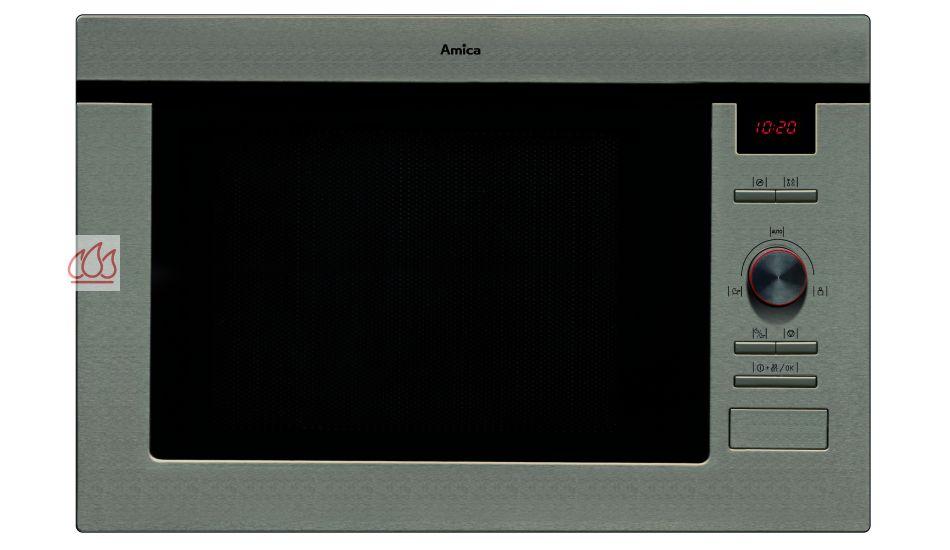 micro ondes et gril de 25l encastrable de niche amica ec ami600 mon espace cuisson. Black Bedroom Furniture Sets. Home Design Ideas
