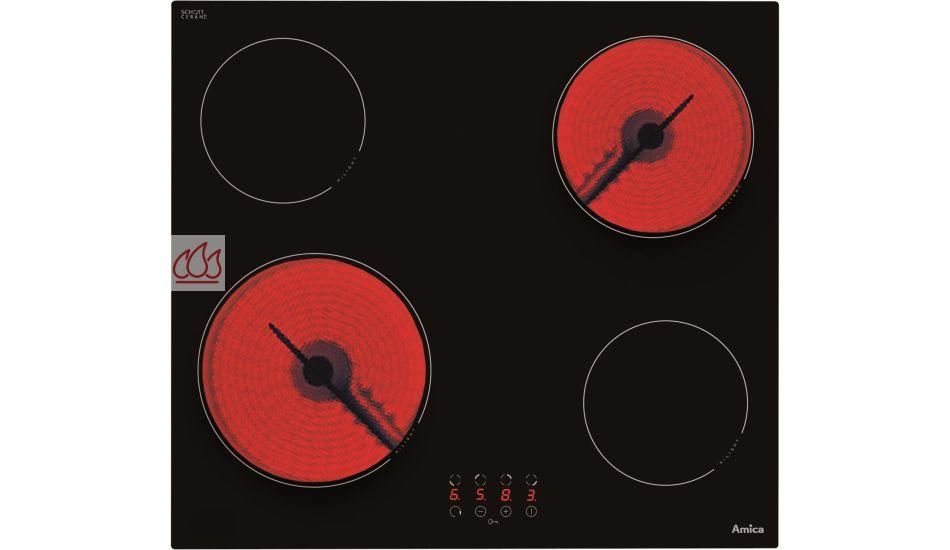 Table Vitroceramique Foyer Halogene : Table de cuisson vitrocéramique cm encastrable noire