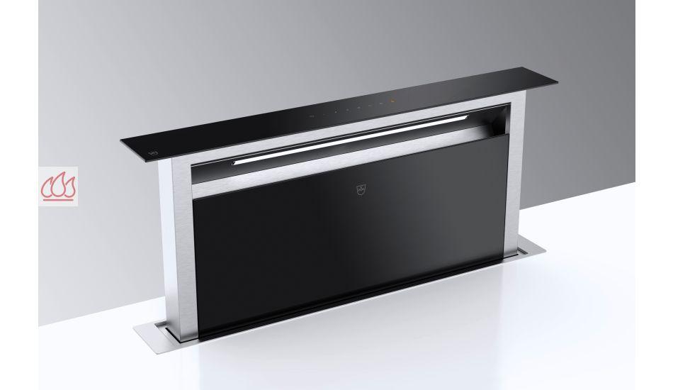 hotte plan de travail t lescopique 88cm noire v zug ec vzu416 mon espace cuisson. Black Bedroom Furniture Sets. Home Design Ideas