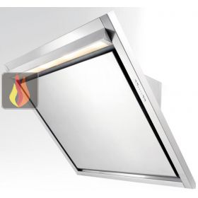 Hotte d corative murale avec clairage led ajustable en for Hotte aspirante evacuation exterieure