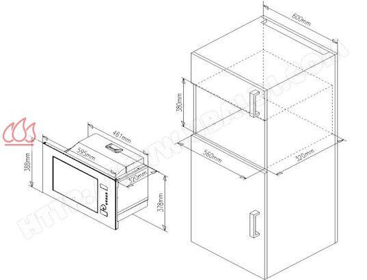 micro ondes et gril de faible profondeur de 20l. Black Bedroom Furniture Sets. Home Design Ideas