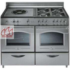 Piano de cuisson en inox 5 foyers gaz dont une plaque for Plaque de cuisson professionnelle