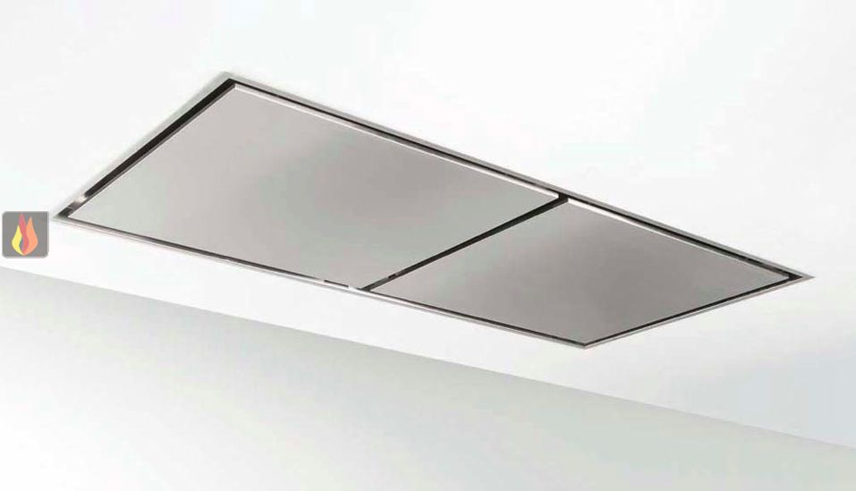 hotte de plafond inox avec clairage halog ne extra large de 150cm de largeur novy ec nov400. Black Bedroom Furniture Sets. Home Design Ideas