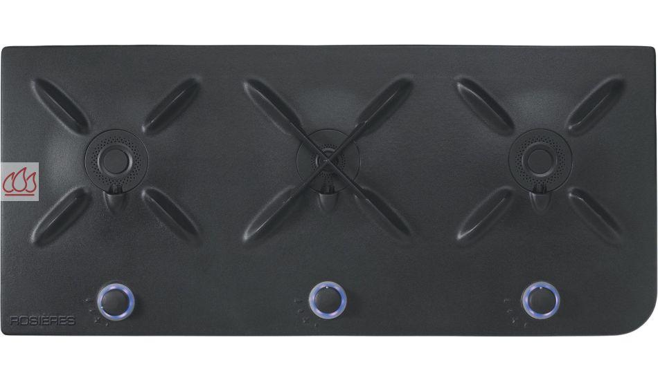 table de cuisson gaz bouteille 90 cm encastrable noire 3. Black Bedroom Furniture Sets. Home Design Ideas