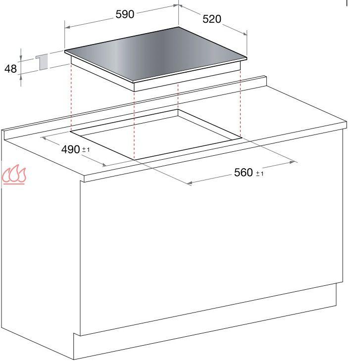 Table de cuisson induction 60 cm encastrable noire 4 - Table cuisson induction 2 foyers ...