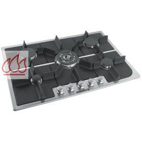 Table de cuisson gaz 75 cm encastrable inox 5 foyers - Table cuisson gaz inox ...