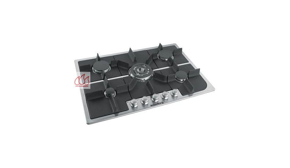 Table de cuisson gaz 75 cm encastrable inox 5 foyers for Table de cuisson gaz 85 cm