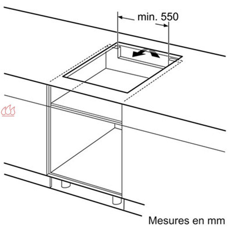 Table de cuisson induction 60 cm encastrable noire 3 for Plaque induction siemens 3 foyers