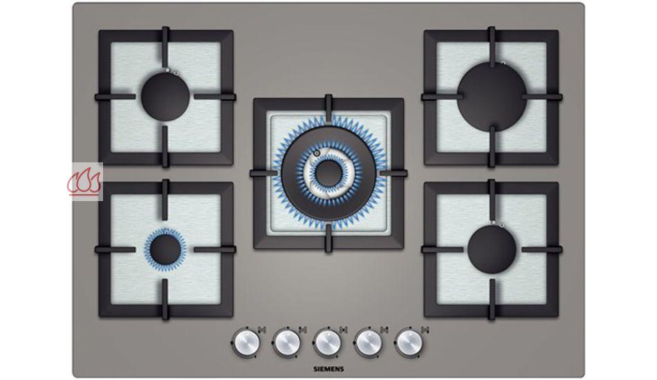 Table de cuisson gaz 70 cm encastrable anthracite 5 foyers - Table cuisson gaz siemens ...
