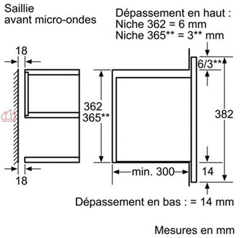 micro ondes de 21l encastrable de faible profondeur siemens ec sie603 mon espace cuisson. Black Bedroom Furniture Sets. Home Design Ideas