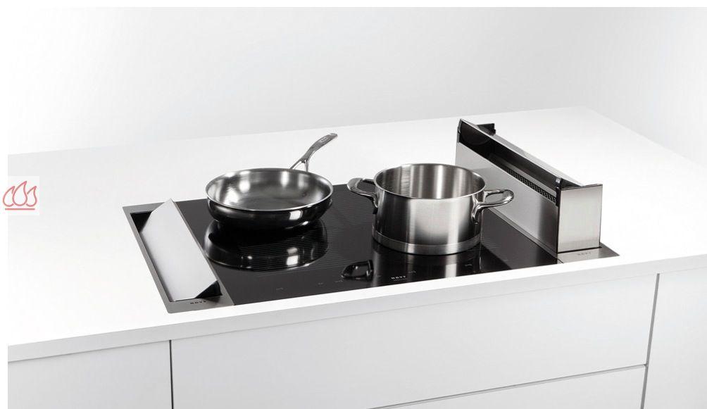 elegant grande hotte aspirante cuisine hotte integrable dans un plan de travail profondeur cm. Black Bedroom Furniture Sets. Home Design Ideas