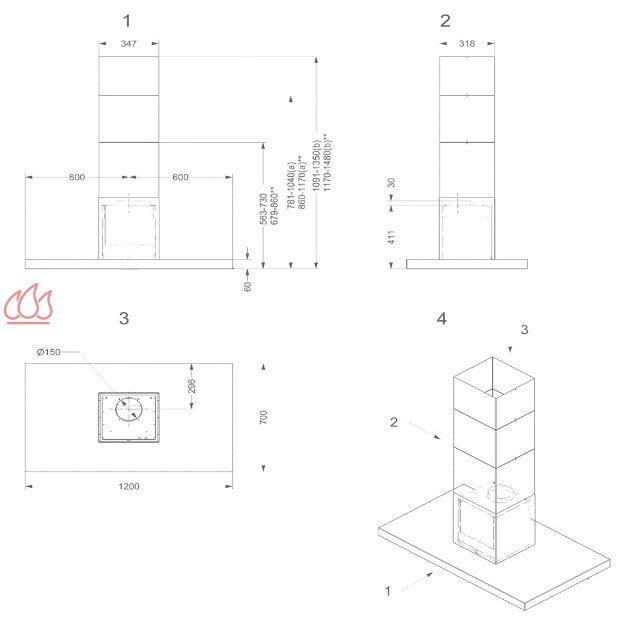 hotte lot avec clairage led ajustable en hauteur novy ec nov422 mon espace cuisson. Black Bedroom Furniture Sets. Home Design Ideas