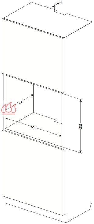 four multifonction grande capacit 66l simple cavit encastrable pyrolyse amica ec ami501 mon. Black Bedroom Furniture Sets. Home Design Ideas
