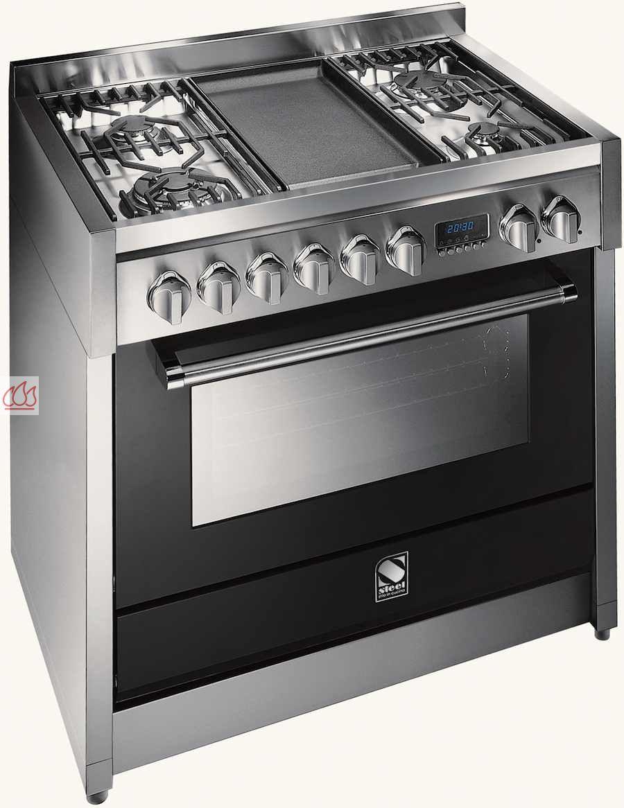 piano de cuisson avec 1 four combin vapeur table de cuisson personnalisable. Black Bedroom Furniture Sets. Home Design Ideas