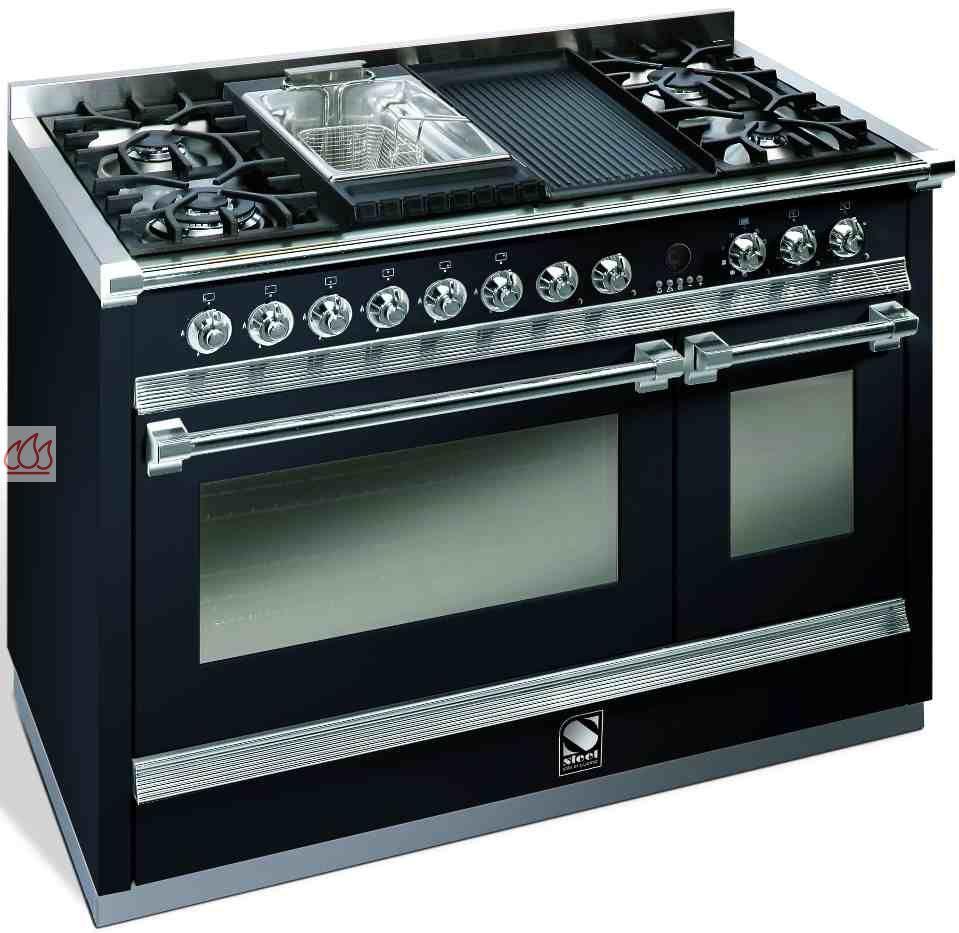 Piano de cuisson avec 2 fours table de cuisson personnalisable steel cucine - Piano de cuisson francais ...