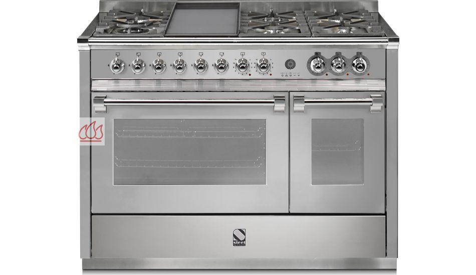 piano de cuisson avec 2 fours table de cuisson personnalisable steel cucine ec ste110 mon. Black Bedroom Furniture Sets. Home Design Ideas