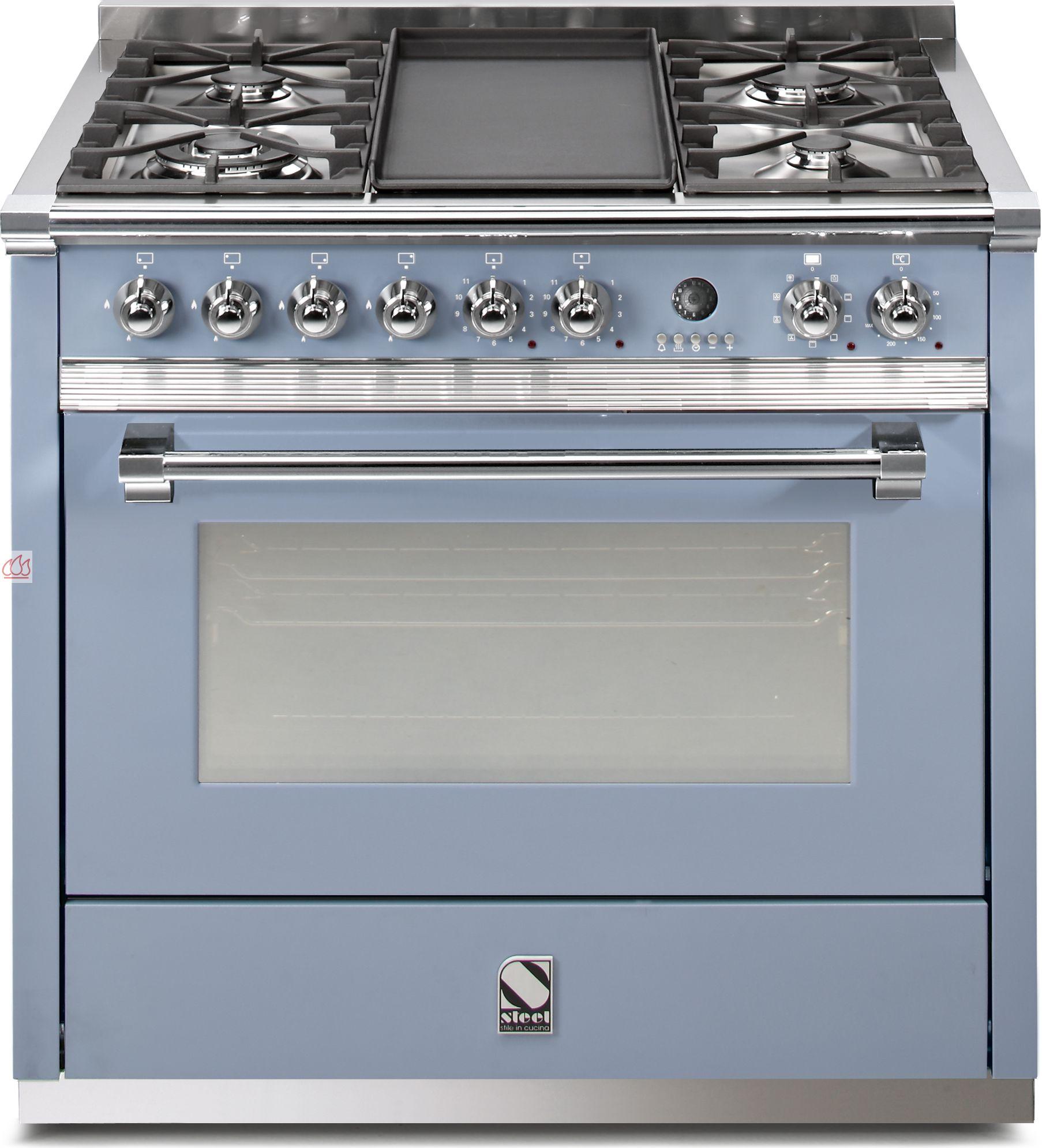 Piano de cuisson avec 1 four table de cuisson personnalisable steel cucine ec ste115 mon - Piano avec four gaz ...