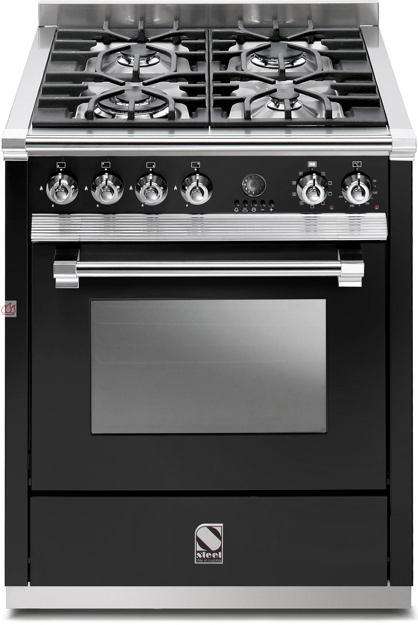 piano de cuisson avec 1 four combin vapeur table de cuisson personnalisable steel cucine ec. Black Bedroom Furniture Sets. Home Design Ideas